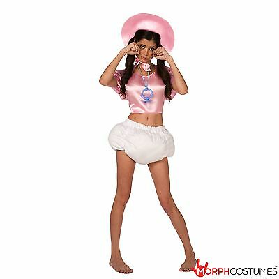 Baby Fancy Dress Costumes (Womens Pink Big Baby Fancy Dress Funny Bachelorette  Diaper Costume + Pacifier )