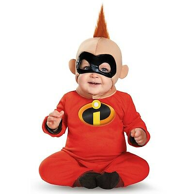 Incredibles 2 Jack Jack Baby Costume Infant 6-12-18 Month Disney Superhero (Baby Incredible Costume)
