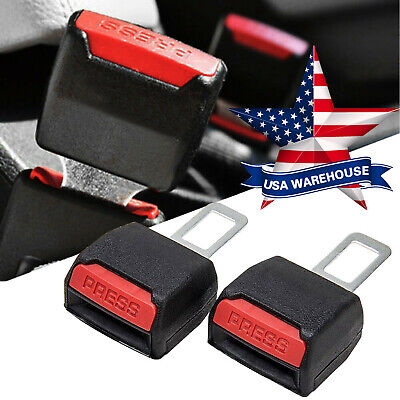 "2Pcs Universal Car Seat Seatbelt Safety Belt Clip Extender Extension 7/8"" Buckle"