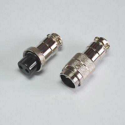 Microphone Mic Plug 2 Pin Connector Female Male Jack Gx 16mm For Cb Radio