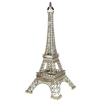 Paris France Tower - SILVER  Eiffel Tower Paris France Metal Stand Model For Table Decor CHOOSE SIZE