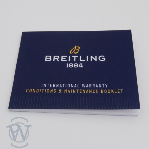 Breitling 1884 BLUE International Warranty Conditions & Maintenance Booklet NEW