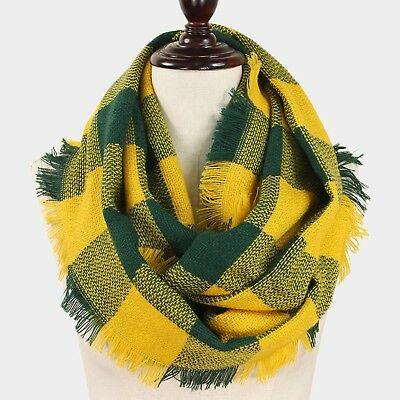 Green Bay Packers Theme (Green Bay Packers Themed Green/Gold Buffalo Check Infinity Scarf with)