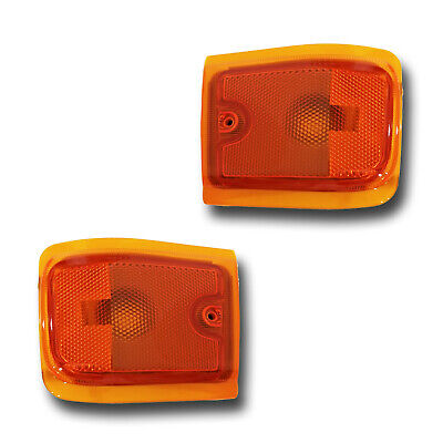 Fits 96-02 Chevrolet Express Left + Right Lower Side Marker Light Lamp 1 Pair