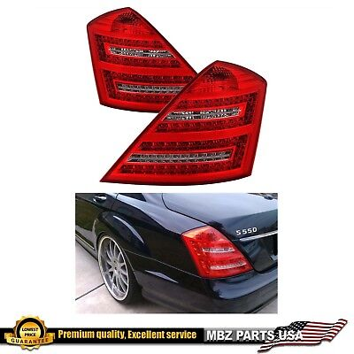 S-Class 07-09 LED Tail Lights S550 S63 S600 AMG lamp Stop Rear Signal headlight