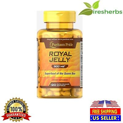 ROYAL JELLY 500MG QUEEN BEE SUPERFOOD IMMUNITY ASTHMA SUPPLEMENT 120 SOFTGELS ()