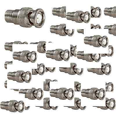 Lot 50 - 200 Pack F-Type Female BNC Male Connector Adapter RG6 RG59 Coax adaptor