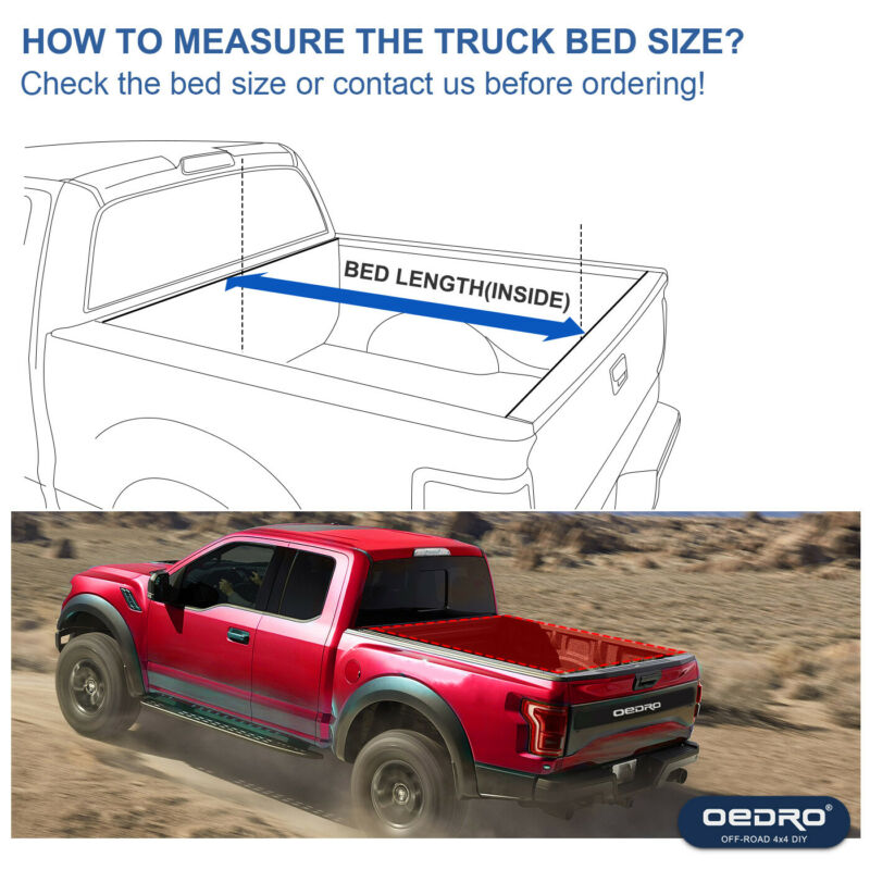 ::OEDRO Tri-Fold Tonneau Cover Truck Bed Cover 5.8ft for 2009-2021 Dodge Ram 1500