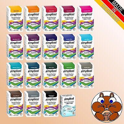 SIMPLICOL Textilfarbe expert vers. Farben u. Fixierer Batiken Wäsche Stoffe