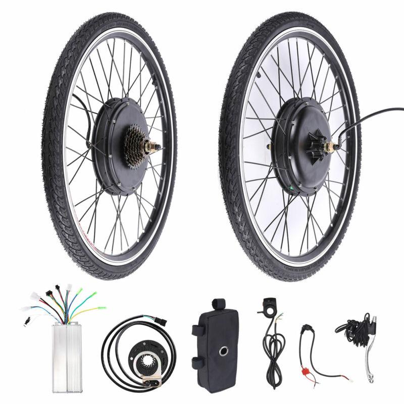 """26"""" Electric Bicycle Conversion Kit E Bike Rear Wheel Motor Hub 1000W 48V"""