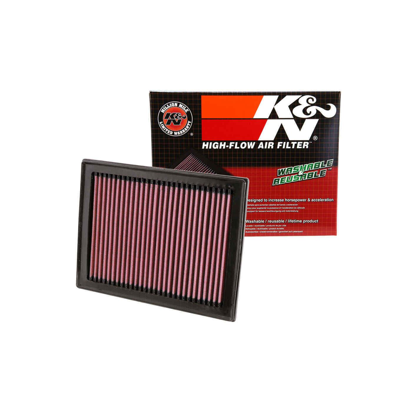 K/&N 33-2409 Drop In Air Filter Fits Nissan Sentra Rogue Juke X-Trail 2007-2019