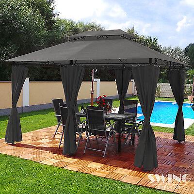 Luxus Pavillon 3x4m Garten Pavilon Gartenmöbel Pavillion Partyzelt Gartenzelt