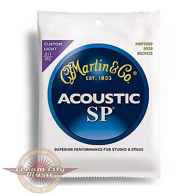 Brand New Martin Msp3050 Sp 80 20 Bronze Custom Light Acoustic Guitar Strings