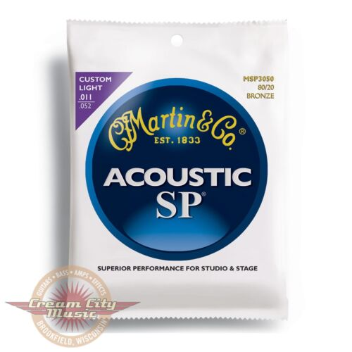 Brand New Martin MSP3050 SP 80/20 Bronze Custom Light Acoustic Guitar Strings