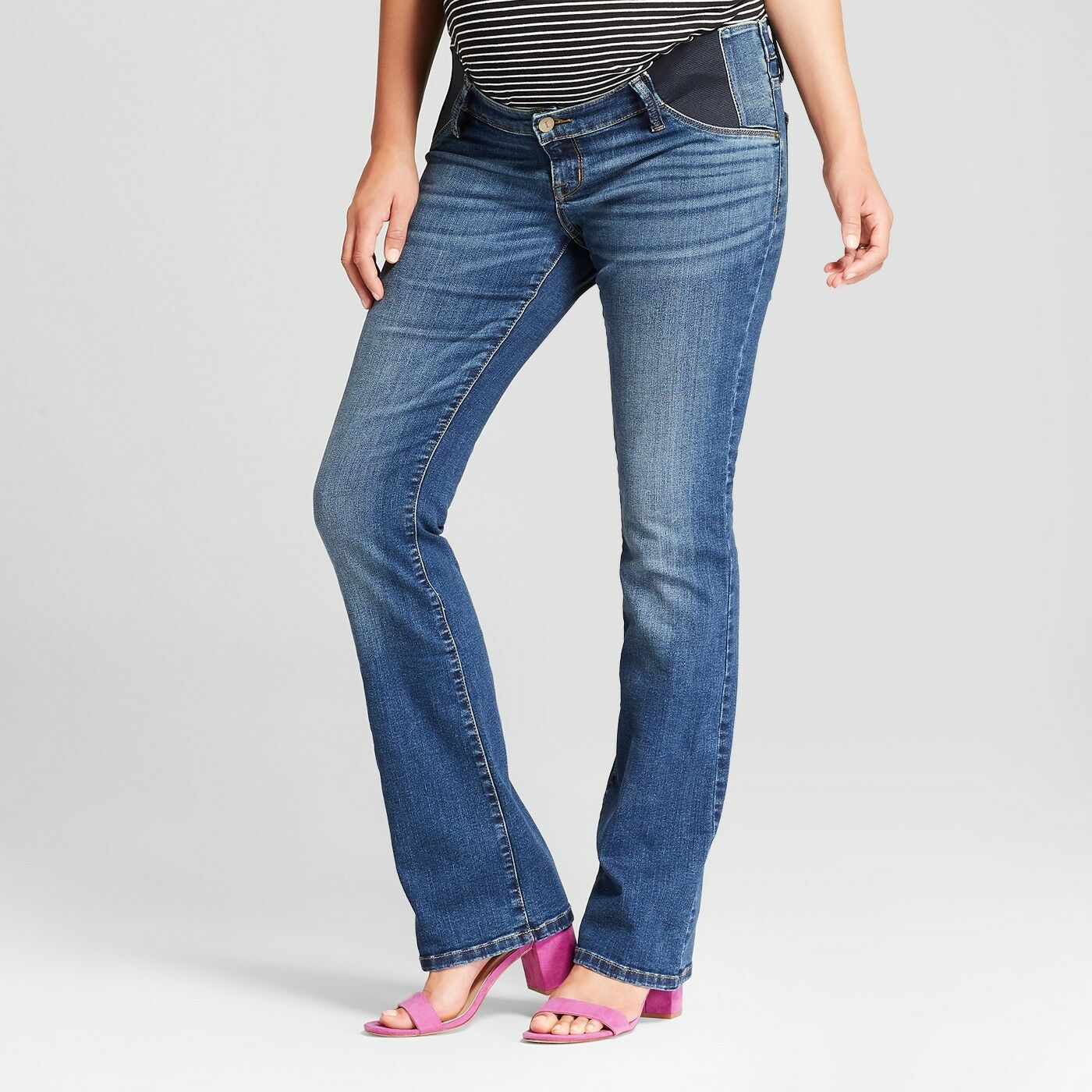 5dc127274b30d Maternity Inset Panel Bootcut Jeans - Isabel Maternity by Ingrid & Isabe  Dark