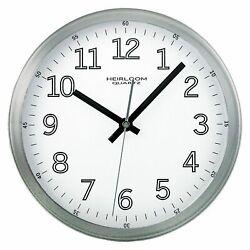 Heirloom - 2253 - TimeKeeper 9 Wall Clock - White/Silver