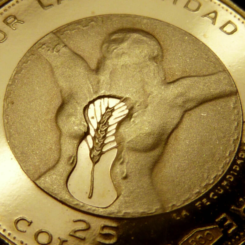 """DALI  """"La Fecundidad""""  SCARCE NUDE Gold Proof Coin  1971 EL SALVADOR  25 Colones"""