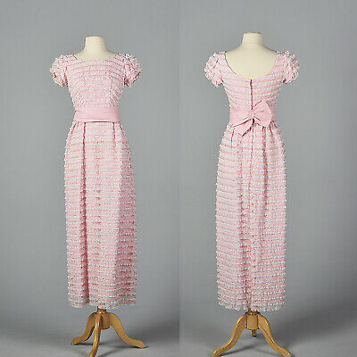 M 1960s Pink White Lace Pencil Dress Wedding Party Outfit Spring Summer 60s VTG](1960 Party Clothes)