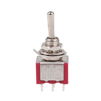 6 Pcs 3 Position Dpdt On-off-on Momentary Mini Toggle Switch Ac 250v2a 120v5a