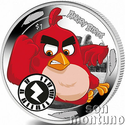 ANGRY BIRDS RED - Worlds First Interactive App Game Coin - 2018 Sierra Leone