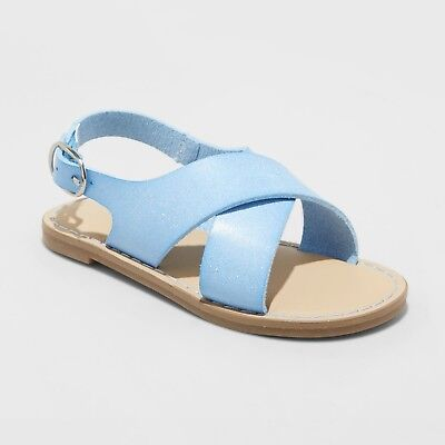 Blue Toddler Two Piece - Toddler Girls' Gail Two Piece Footbed Sandals - Cat & Jack Blue