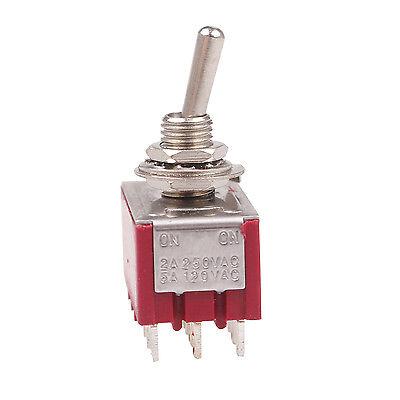 2pcs 12 Pin Mini Toggle Switch 4pdt 2 Position Onon 6a125v 2a250v Mts-402