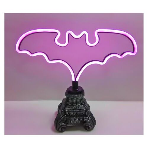 NEW Hyde and Eek! Boutique Halloween Light Up Bat Table Decor With Base - Purple