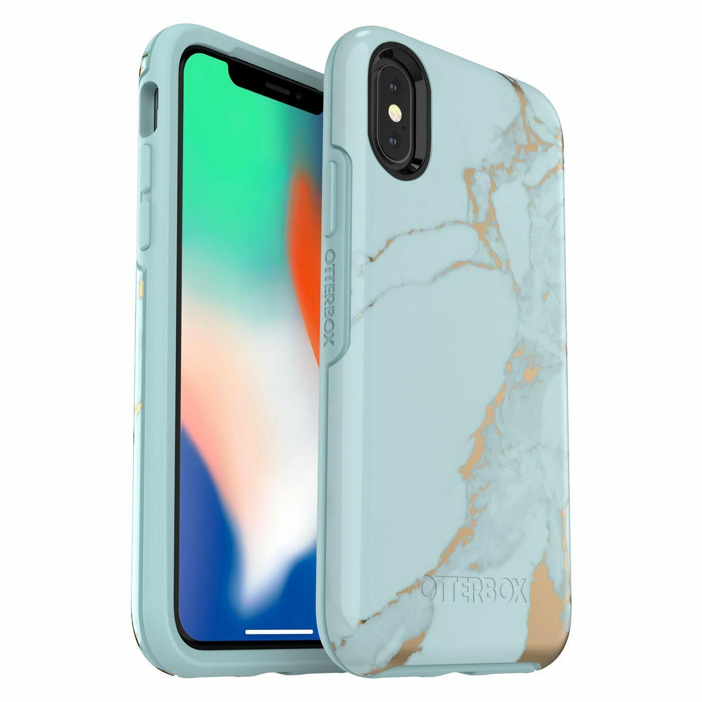 OtterBox Symmetry Series Case for iPhone X & iPhone Xs (ONLY) (Teal Marble)