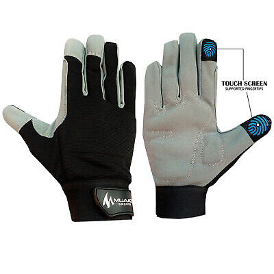Mechanics Work Gloves Safety Heavy Duty Protection Gardening Builders Washable