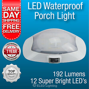 Caravan Awning Light Waterproof 12volt super bright LED's x 12 Exterior lamp new