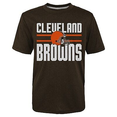 NFL Cleveland Browns Boys XL 14/16 Textured Gel Print Heathered T-Shirt