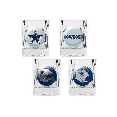 Cowboys Shot Glass (Dallas Cowboys Shot Glass Set NFL 4 Glasses 2 oz Gift Player)