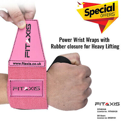 FITAXIS Best Wrist Wraps Weight Lifting Straps Workout Brace Support Power (Best Workout Wrist Support)