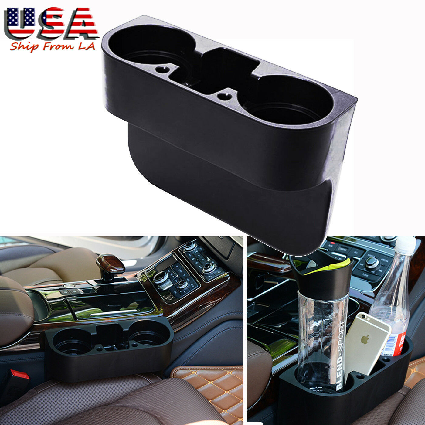 Car Auto Accessories Seat Seam Storage Box Phone Holder Organizer EL