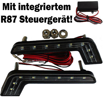 8SMD TÜV LED Tagfahrleuchten TFL L-Form Tagfahrlicht E4 Mercedes W210 W211 W212