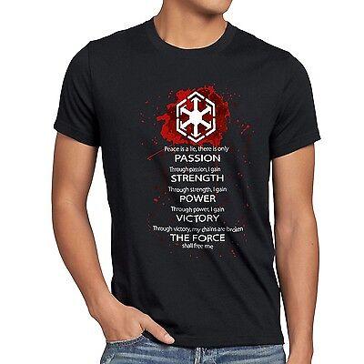 Sith Code Herren T-Shirt lord ritter luke rebellion darth wars vader star maul ()