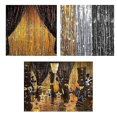 NEW YEARS EVE Metallic Curtains 3ft X 8ft Foil Fringe  Party Decorations](New Years Eve Parties)
