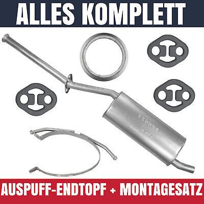 Auspuff-Endtopf für Mercedes A A140 A160 A190 W168 (07/97-08/04) 1.4i 1.6 1.9