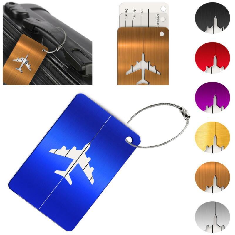 Reise Kofferanhänger Namensschild Gepäck Anhänger Schild Urlaub Flugzeug Trolley