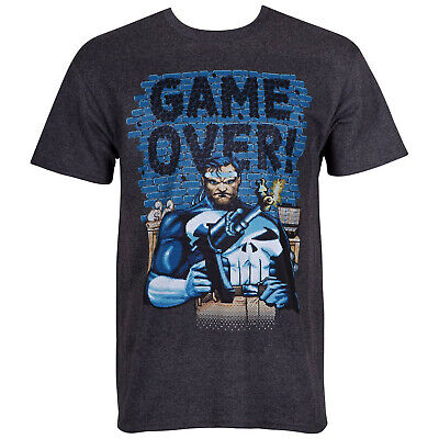 Punisher Game Over Arcade Style Men's T-Shirt  Arcade Style Games