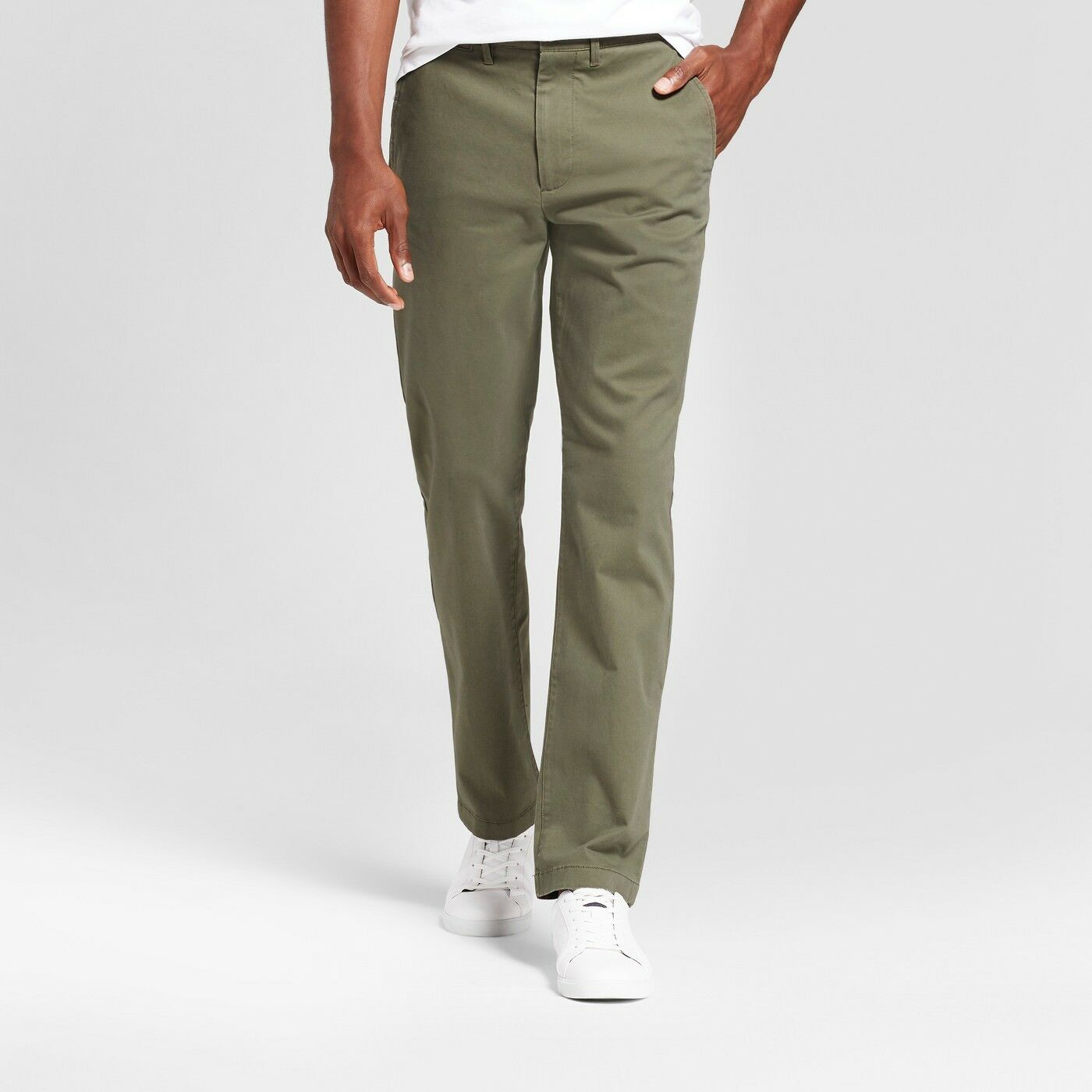 0487806d53cd Details about Men's Slim Fit Hennepin Chino Pants - Goodfellow & Co™ Olive