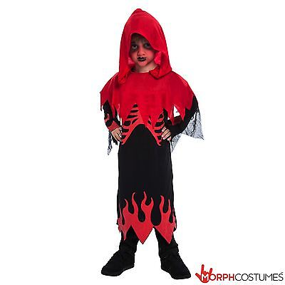 SALE Kids Red Skeleton Costume Boys Fancy Dress for Halloween Robe & Hood - Kids Dress For Sale