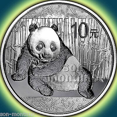 2015 Chinese PANDA 1 oz .999 Silver Mint Sealed in Capsule BU Bullion Coin CHINA