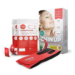 CHIN UP 30 MINUTE NON SURGICAL FACE LIFT TRIAL PACK 2 X MASKS FREE POSTAGE