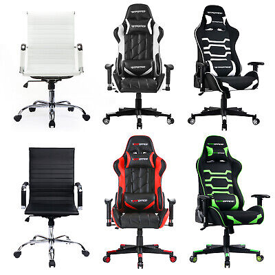 Adjustable Racing Style Gaming Chair Office High Back Ergonomic Recliner Leather