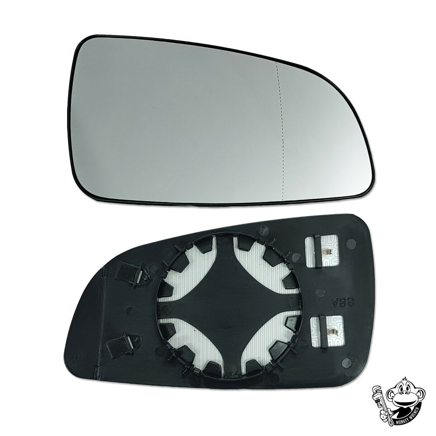 Left Passenger side Wing door mirror glass for Vauxhall Astra H 2004-2008