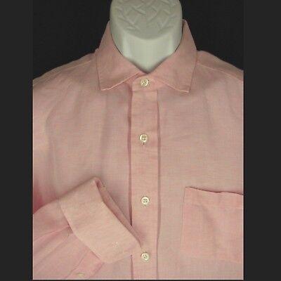 Robert Talbott Best of Class Mens Dress Shirt 16-33 Pink French Cuffs