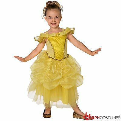 Girls Golden Belle Princess Fancy Dress Costume Yellow Fairytale Dress Hallowen](Hallowen Clothes)