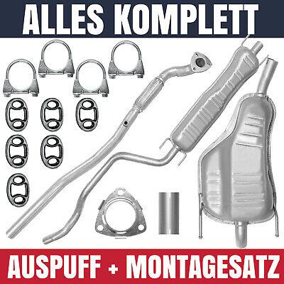 Auspuffanlage Schalldämpferset Auspuff Opel Zafira B II 05-14 1.6 Montagesatz
