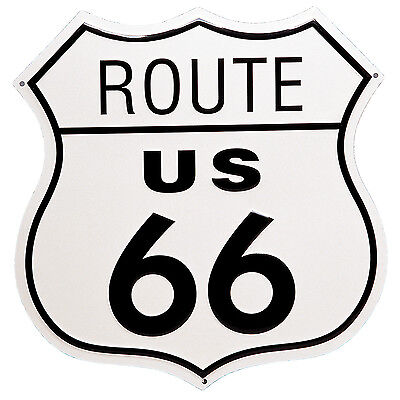 Route 66 Shield Metal Garage Tin Sign Wall Art Plaque Man Cave Garage US Decor